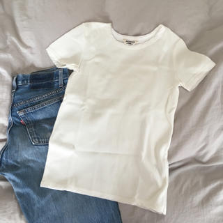 ロンハーマン(Ron Herman)のAURALEE リブTシャツ(Tシャツ(半袖/袖なし))