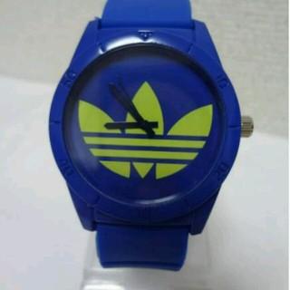 アディダス(adidas)のアディダス 時計 ブルー×イエロー 青(腕時計)