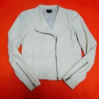 ルシェルブルー(LE CIEL BLEU)のルシェルブルー羊革ライダーズジャケット(ライダースジャケット)