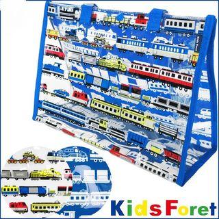 キッズフォーレ(KIDS FORET)のKids Foret(キッズフォーレ) 総柄PVCクリアプールバッグ  電車(トートバッグ)