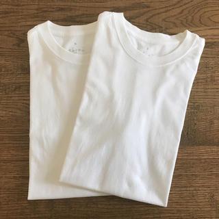 ムジルシリョウヒン(MUJI (無印良品))の無印良品 メンズクルーネック 半袖 Tシャツ S 2枚セット未使用水洗いのみ(Tシャツ/カットソー(半袖/袖なし))