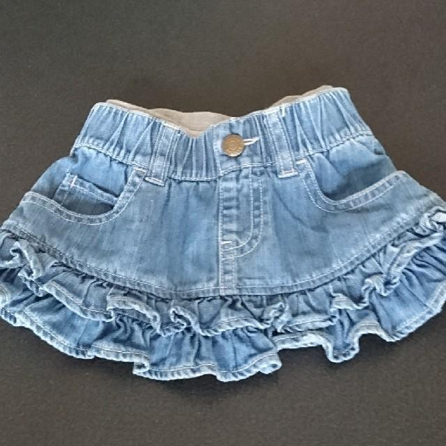 448e9f2c4ffe1 babyGAP - baby Gap デニム フリル スカート 80サイズの通販 by あきゆ s ...