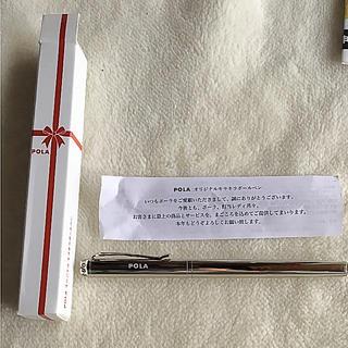 ポーラ(POLA)の⭐️ princess⭐️様専用 POLA キラキラボールペン☆ホワイト(ペン/マーカー)