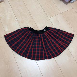 クレードスコープ(kladskap)のクレードスコープ チェックフレアスカート 80(スカート)