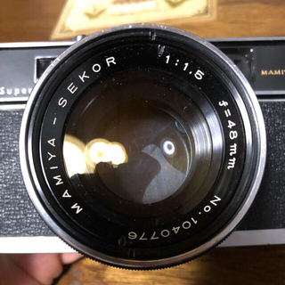 マミヤ(USTMamiya)の希少‼︎ F1.5 MAMIYA-SEKOR 48mm付きフィルムカメラ中古(フィルムカメラ)