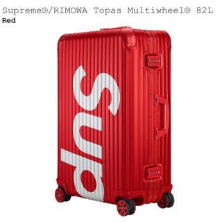 シュプリーム(Supreme)のSupreme RIMOWA 82L RED(トラベルバッグ/スーツケース)