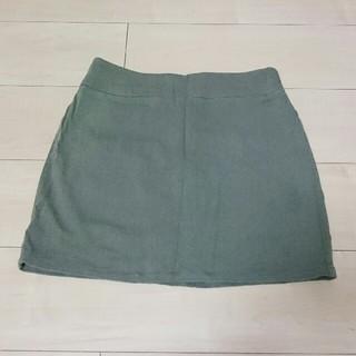 マーキュリーデュオ(MERCURYDUO)のマーキュリーデュオ ショートパンツ付きタイトスカート  カーキ(ミニスカート)