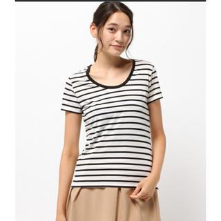 アズールバイマウジー(AZUL by moussy)の新品タグ付き アズールバイマウジー  ボーダー Tシャツ(Tシャツ(半袖/袖なし))