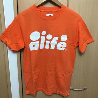 エーライフ(ALIFE)のUSA製 alife Tシャツ オレンジ(Tシャツ/カットソー(半袖/袖なし))