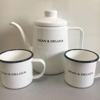 ディーンアンドデルーカ(DEAN & DELUCA)の【新品未使用】 DEAN & DELUCA ホーローケトル&マグカップ セット(グラス/カップ)