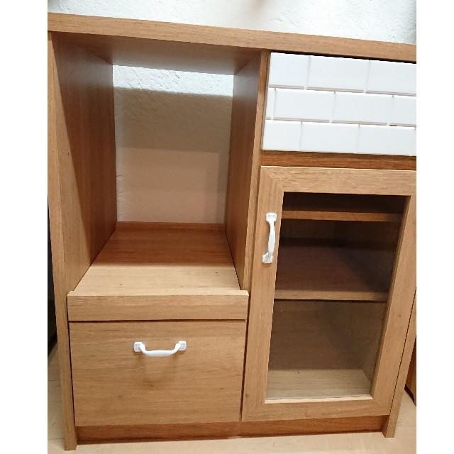 食器棚 キッチンカウンター レンジ台 完成品 インテリア/住まい/日用品の収納家具(キッチン収納)の商品写真