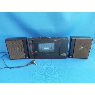 トリオ(TRIO)のTRIOトリオステレオテープレコーダーと外部スピーカー ジャンク(ポータブルプレーヤー)
