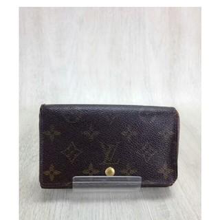 ルイヴィトン(LOUIS VUITTON)のルイヴィトン⚠ポルトモネビエトレゾール⚠折り財布⚠モノグラム茶色ブラウン男女兼用(財布)