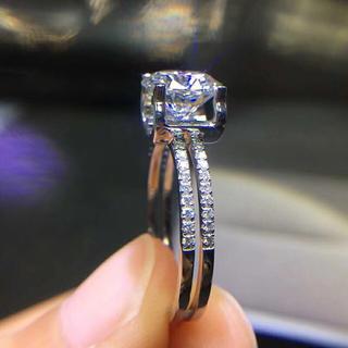 18k MOISSANITEダイヤ2ctリング(リング(指輪))