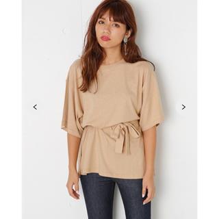 スライ(SLY)のSLY 新品タグ付 SIDE SLIT HALF SLEEVE T/SH-S(Tシャツ(半袖/袖なし))