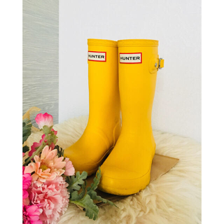ハンター(HUNTER)のHUNTER☆長靴ハンター美品UK11 17cm18cm(長靴/レインシューズ)