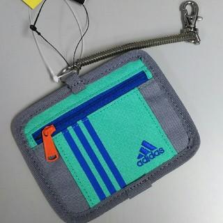 アディダス(adidas)の新品 アディダス パスケース・グリーン(名刺入れ/定期入れ)