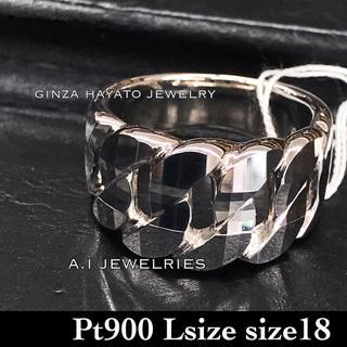 Pt900 プラチナ900ミラーカット 喜平 リング Lサイズ ジュエリー 新品(リング(指輪))
