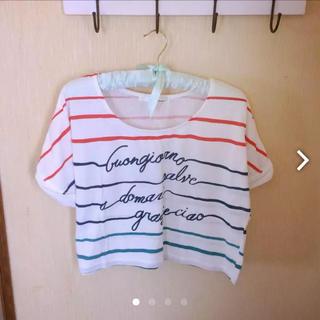 ミスティウーマン(mysty woman)の【mysty woman】手書きボーダー風Tシャツ(Tシャツ(半袖/袖なし))