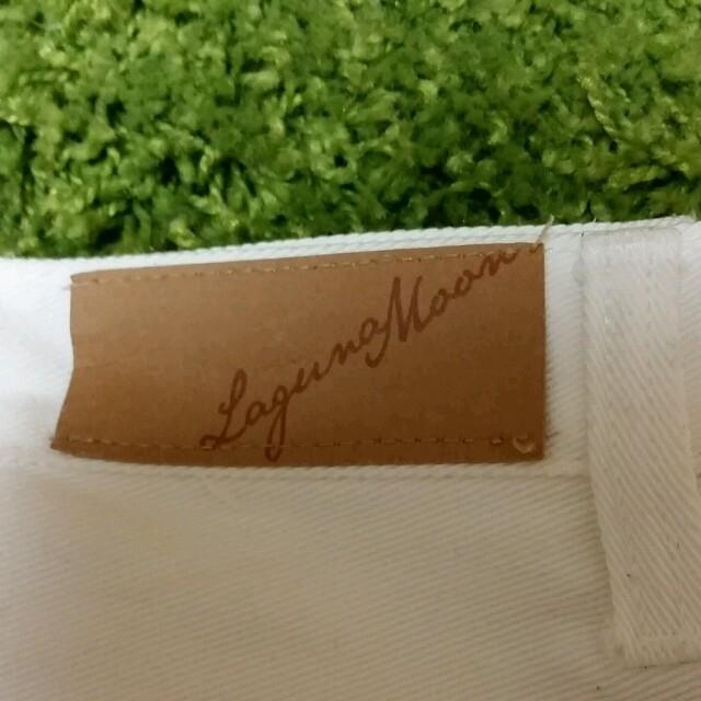 LagunaMoon(ラグナムーン)のLagunaMoon ショーパン白 レディースのパンツ(ショートパンツ)の商品写真