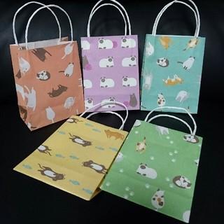 まどろみ猫さん♪ミニ紙袋♪(カード/レター/ラッピング)