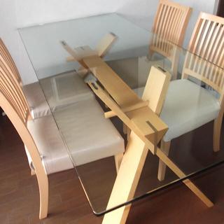 オオツカカグ(大塚家具)のIDC大塚家具 ダイニングテーブル&チェア4脚セット(ダイニングテーブル)