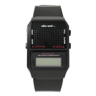 ニコアンド(niko and...)の新品☆ニコアンド  トーキングウォッチ ブラック(腕時計)