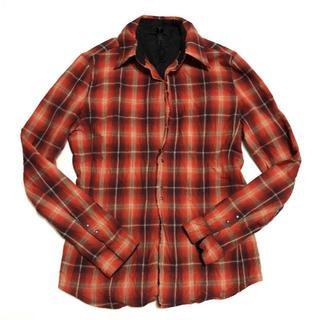 ダブルジェーケー(wjk)のwjk シワ加工チェックフックドレスシャツ AKMジュンハシモト(シャツ)