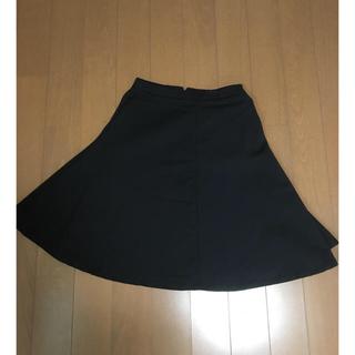 インフルエンス(Influence)のINFLUENCE  膝丈上品スカート ブラック(ひざ丈スカート)