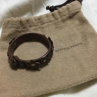ボッテガヴェネタ(Bottega Veneta)のレア!ボッテガヴェネタの革のブレスレット(ブレスレット/バングル)
