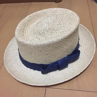 シェル(Cher)の美品 パナマ帽子 cher購入 1万円 エクアドル製(麦わら帽子/ストローハット)