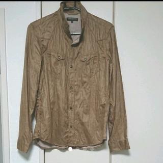 ハイダウェイ(HIDEAWAY)の【新品、未使用】ハイダウェイ スエード風長袖シャツ(シャツ)
