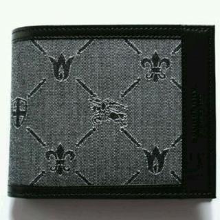 バーバリー(BURBERRY)の新品フル装備バーバリーブラックレーベルモノグラム加工二つ折り財布小銭入付タイプ(折り財布)