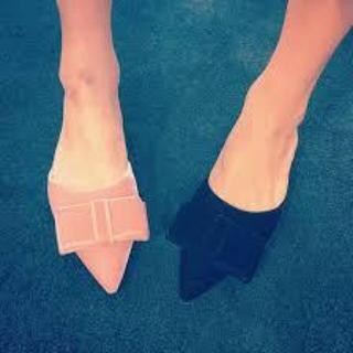 ロシャス(ROCHAS)のロシャス rochas リボン サンダル ミュール 靴 シューズ 36 ピンク(ミュール)