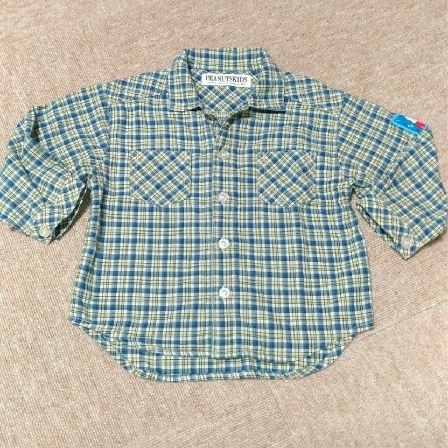 927a59ce97d4a PEANUTS(ピーナッツ)のベビー服 90 スヌーピー チェック柄長袖シャツ キッズ ベビー