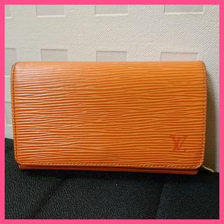 ルイヴィトン(LOUIS VUITTON)のルイヴィトン エピ 二つ折り財布 オレンジ(財布)
