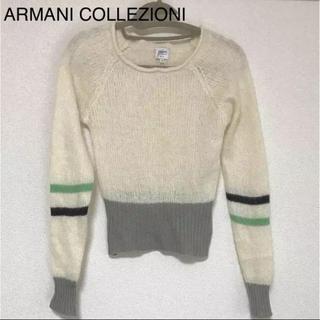 アルマーニ コレツィオーニ(ARMANI COLLEZIONI)の正規品 アルマーニ コレツォーニ モヘア混 ニット(ニット/セーター)