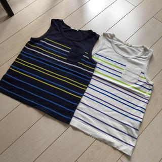 ジーユー(GU)の【連休値引き】GU ボーダータンクトップ 二枚セット(Tシャツ/カットソー)