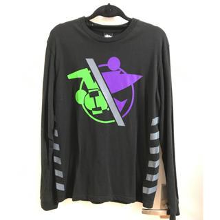 ステューシー(STUSSY)のSTUSSY ロンT 黒(Tシャツ/カットソー(七分/長袖))
