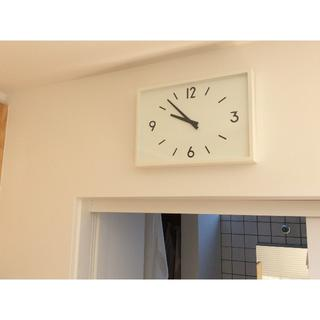 ムジルシリョウヒン(MUJI (無印良品))の【保証書付き】 無印良品 駅の時計・電波ウォールクロック(収納スタンド付)(置時計)