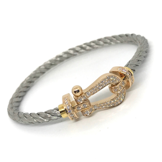 フレッド(FRED)の★極美品★正規品★FRED フォース10 ダイヤモンド AU750  LMサイズ(ブレスレット)