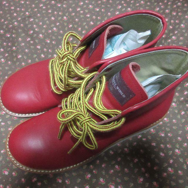 PINK HOUSE(ピンクハウス)のワンダフルワールド★新品☆L☆可愛い赤いハイカットブーツ レディースの靴/シューズ(ブーツ)の商品写真