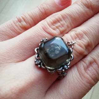 ブラックピースナウ(BLACK PEACE NOW)のほぼ未使用★ゴシック★ドクロの指輪(リング(指輪))