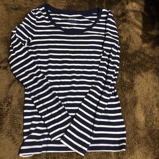 ジーユー(GU)のボーダー  長袖シャツ(Tシャツ(長袖/七分))