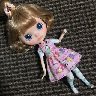 #46 マカロンパンダのジャンパースカート(人形)