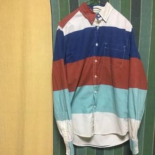 【TOPMAN】ボーダーカラーシャツ