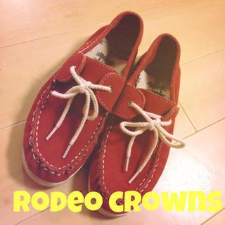 ロデオクラウンズ(RODEO CROWNS)のRCS♡デッキシューズ(スニーカー)