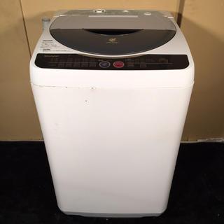 シャープ(SHARP)のSHARP 6.0kg 簡易乾燥機能付き洗濯機 ES-FG60H(洗濯機)