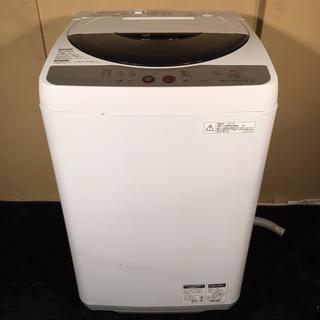 シャープ(SHARP)のSHARP 5.5kg 送風機能付き洗濯機 2010年製(洗濯機)
