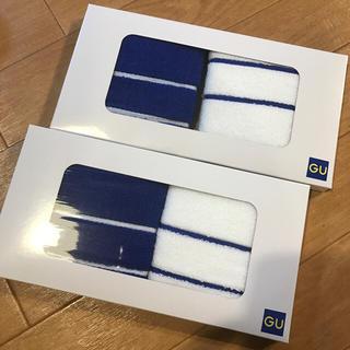 ジーユー(GU)のGUハンドタオル2枚組2点セット新品(タオル/バス用品)